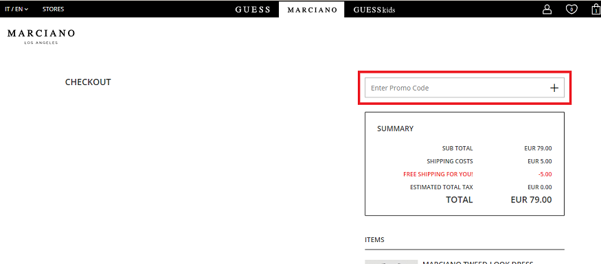 Marciano Coupons